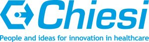 Logos - Das Chiesi Logo in der Farbe Cyan (blau)